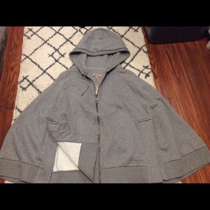 Burberry hooded zip up cape